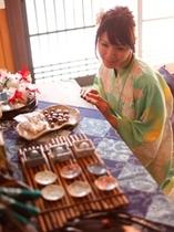 食事処町屋カフェ寺子屋では、和小物・和菓子・手作りスイーツ・雑貨など販売