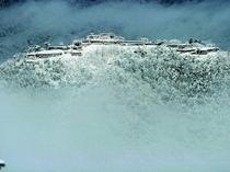 雪の竹田城
