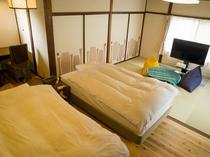 別邸「千の雲」2階ベットルーム和洋室