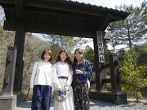竹田城へは、この門から