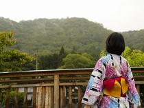 竹田の町から竹田城が望めます。