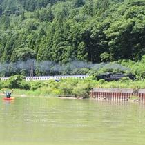 *【カヌー体験】SLの時間に合わせてツアーを催行。カヌーでしか行けない川からの絶景をご覧ください!