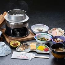 *【朝食一例】レストラン「グリーネスト」にてお召し上がり下さい。ツヤツヤのコシヒカリがおすすめです。