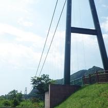 *【周辺】「もみじ谷大吊橋」は、無補剛桁吊橋歩道としては日本最長です。
