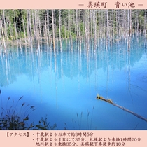 【観光】 青い池