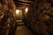お風呂へ向かう洞窟