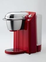 全客室にコーヒーマシン設置