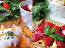 薬師館の蕎麦ガレット(ご朝食メニュー)