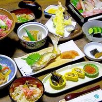 *夕食一例/地の食材を使用したからだに優しいお料理。