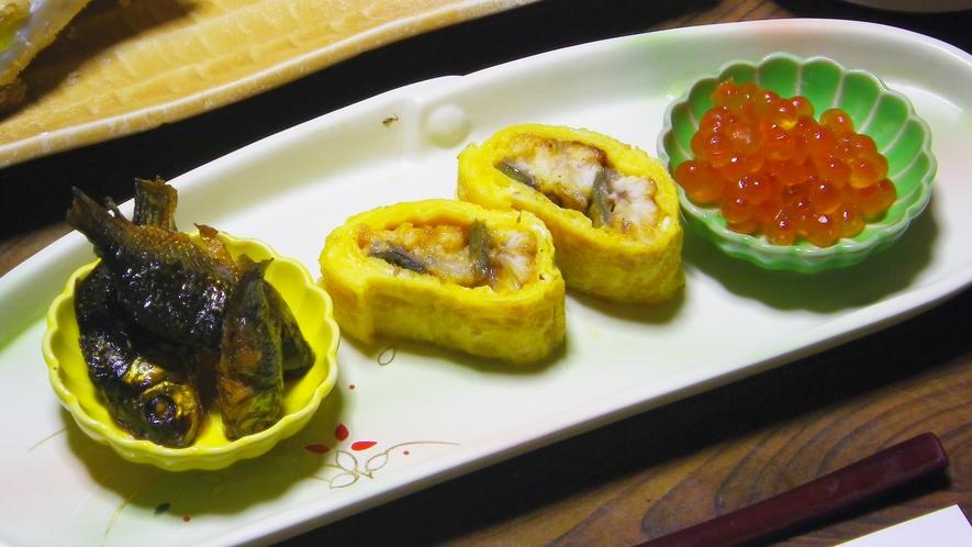 *夕食一例/鮒の甘露煮。甘露煮は、信州の伝統的な調理方法。
