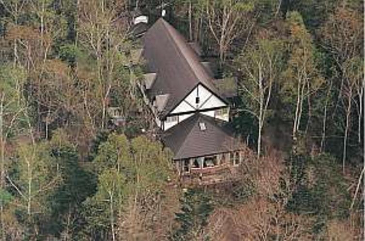 森の中の静かな館。航空写真!