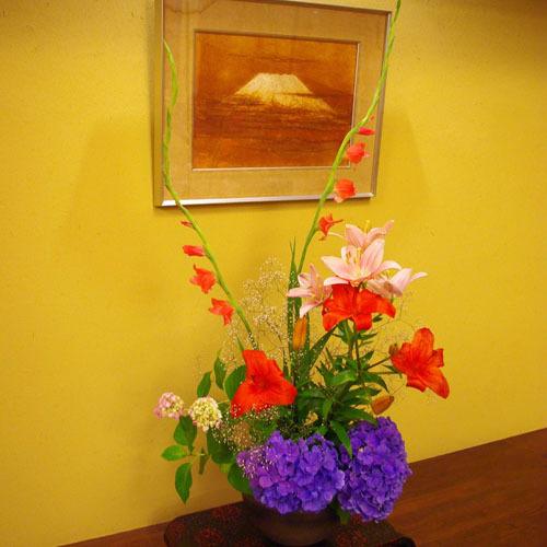 毎日、行け花を手入れしております
