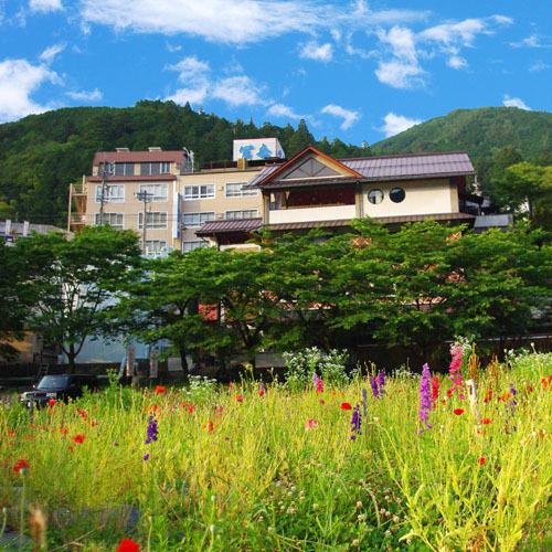 川原から見た冨岳