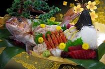 鯛の活き造り(舟盛)