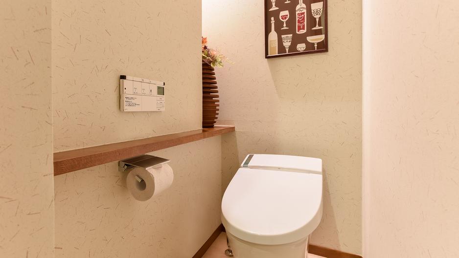 *[龍燈/2層式メゾネット客室一例]洗浄機能付トイレ