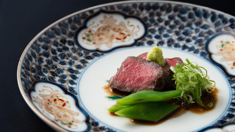 *[京新感和食一例]京たんくろ和牛ステーキ