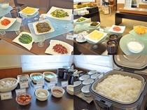 【朝食バイキング】炊き立ての道産米にぴったりのおかずが多くて迷います。