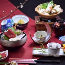 季節の鍋和膳の一例です。