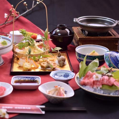 牛陶板焼き和膳の一例です。