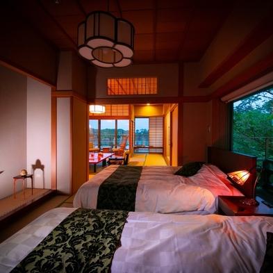お部屋指定 12+6帖(2間・ベッド付) 老松 基本宿泊プラン