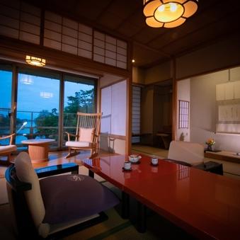 松島湾を望む和室(12+6帖 2間)ベッド付