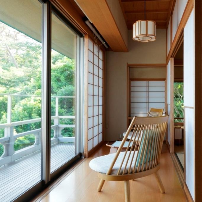 松島湾を望む和室