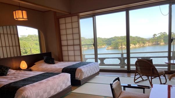 松島湾を望む和室(2階ベッド付)