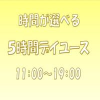 【11:00〜19:00】選べる5時間デイユース★部屋タイプおまかせ