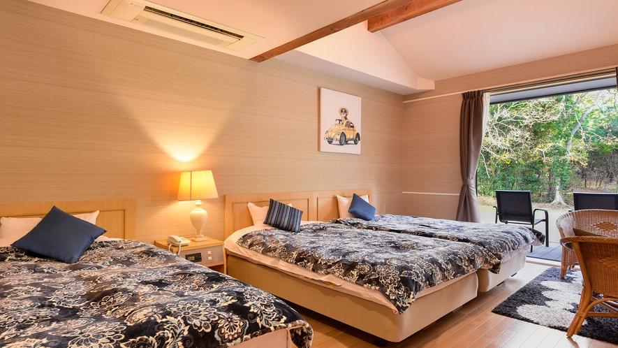 *洋室トリプル(客室一例):ご家族連れに人気のお部屋です。