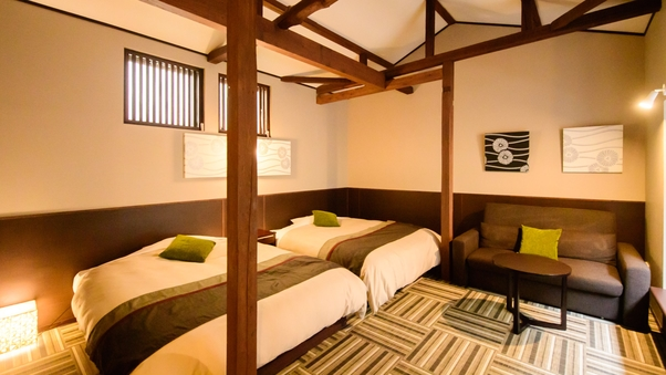和モダンツインベッドルーム(18平米)【禁煙】