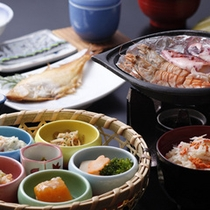 自家栽培野菜もたっぷりの「 朝食 」の一例