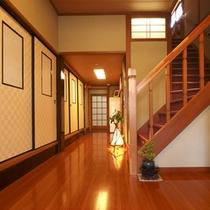 ふじやの客室は、2階です