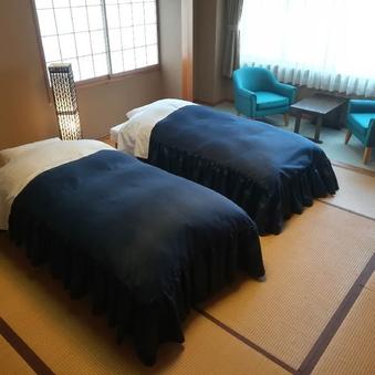 生源泉掛け流しの宿◎ツインベッドの和洋室