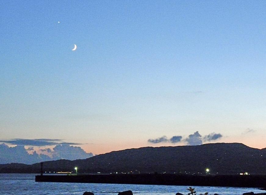 当館から見た夕方の景色