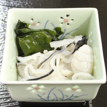【夕食一例】フグの湯引き