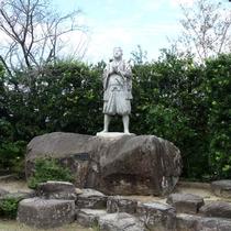 【周辺観光】天草四郎の銅像(原城)