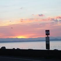 【景色】有明海の朝日の出