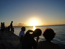 西桟橋からの夕日