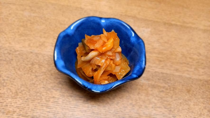 夕食一例(小鉢⑥)パパイヤラタトゥイユ