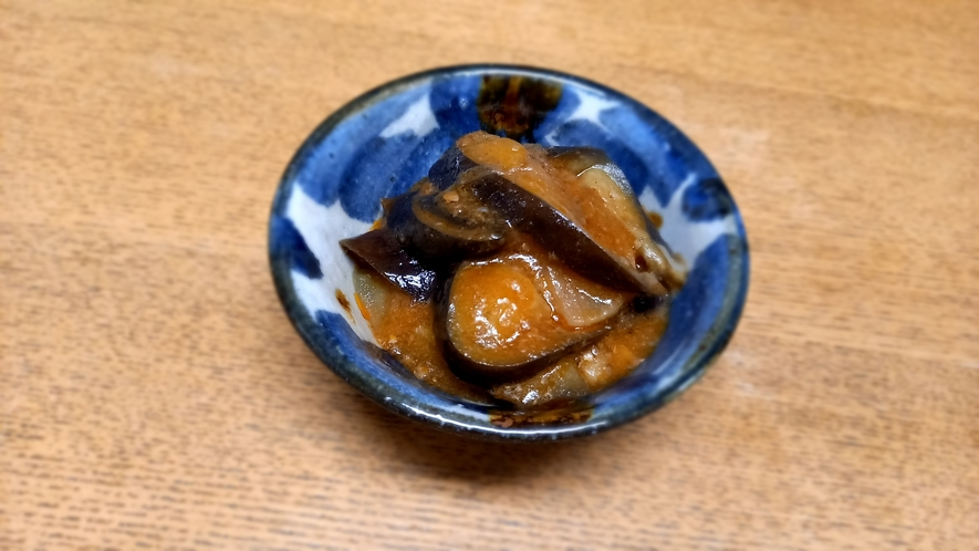 夕食一例(小鉢⑤)茄子炒めもの