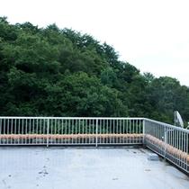 4Fの屋上バルコニーから眺望