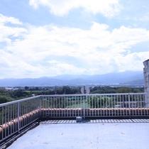 当館おすすめ4Fバルコニーからの眺望
