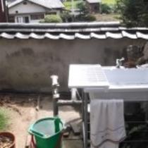 庭の洗面所