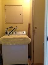 和洋室タイプ508室洗濯機