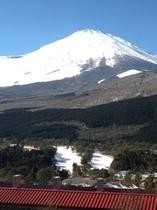 冬の富士山全景