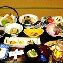 *旬の食材を使用したお料理に舌鼓/夕食一例