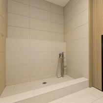 【広めのペットルーム】広めのペットルームにはワンちゃん専用のシャワーがございます。