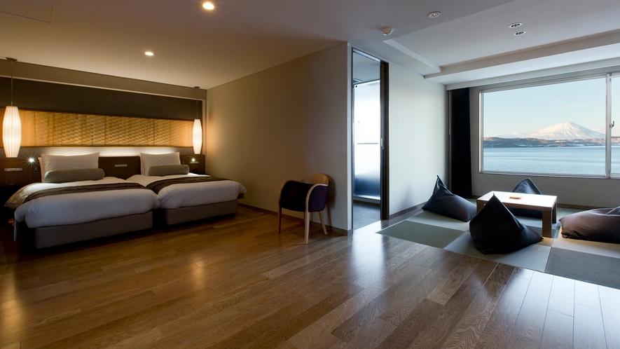【展望風呂付客室】和洋室、4名様定員タイプです。
