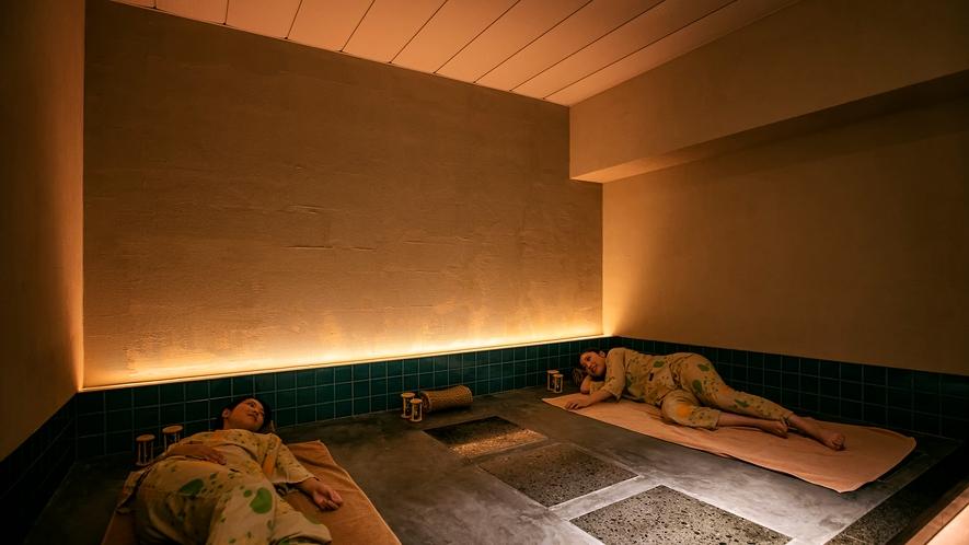 【個室岩盤風呂】貸切のプライベート空間で気兼ねなくリラックスできます。