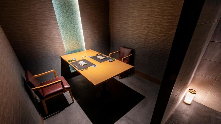 【乃の風茶寮】19席のお席は個室になっておりごゆっくりとお楽しみ頂けます。(最大4名対応)